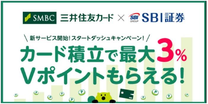 SBI証券の三井住友カード積立の画像
