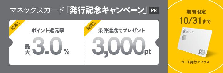 マネックスカード発行記念キャンペーン